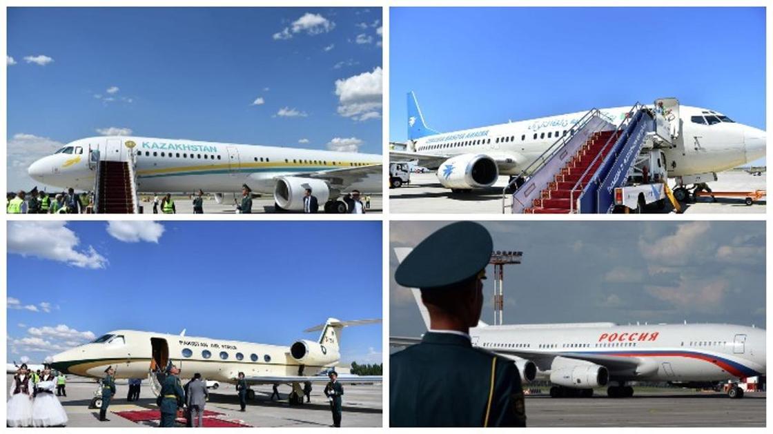 Как выглядят самолеты президентов и глав правительств стран - участников ШОС