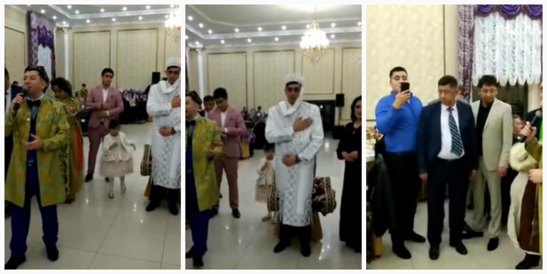 Жених вместо невесты: узбекская свадьба в Казахстане вызвала недоумение в Сети (видео)