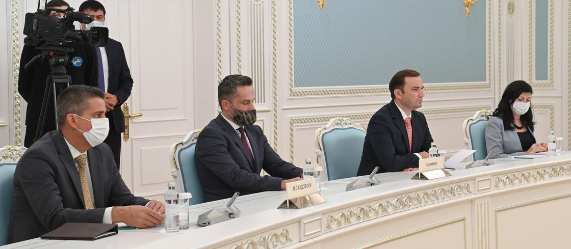 Буяр Османи и представители Северной Македонии на встрече с Касым-Жомартом Токаевым