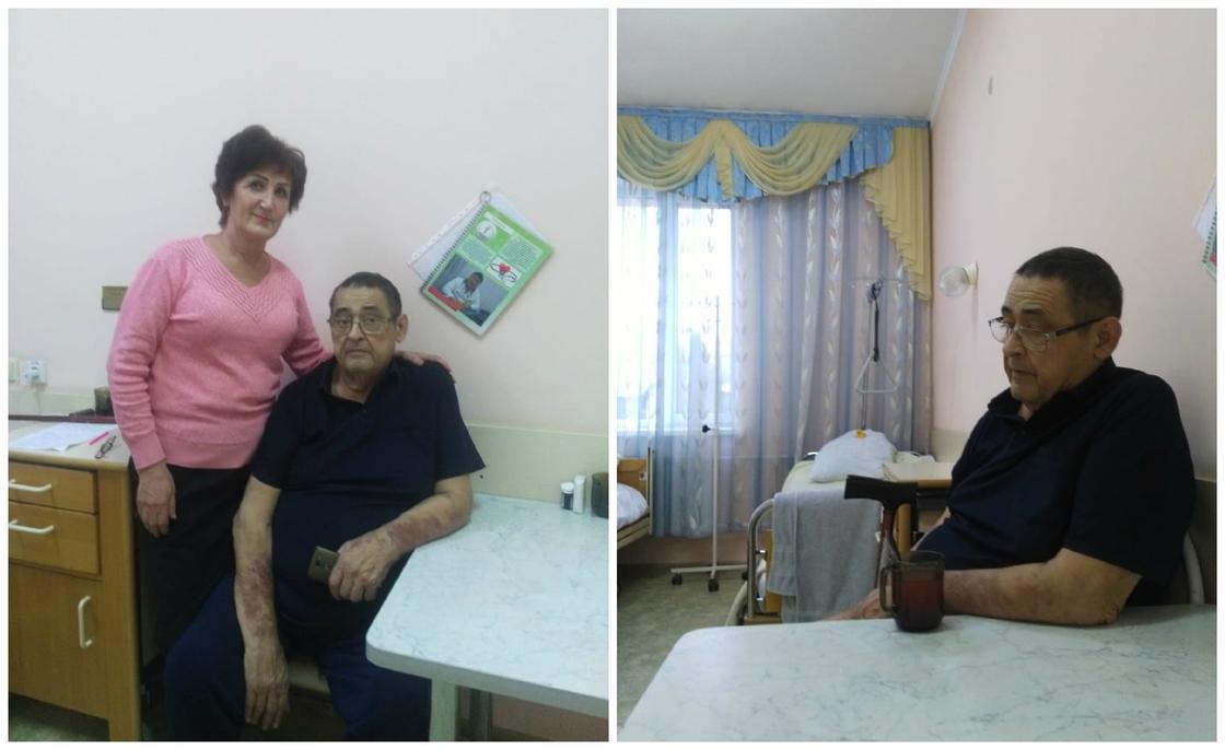 Тамара и Николай в больнице