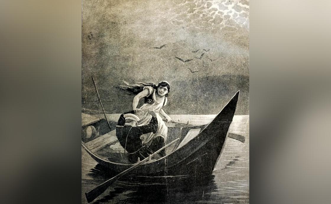 Иллюстрация к повести «Тамань»