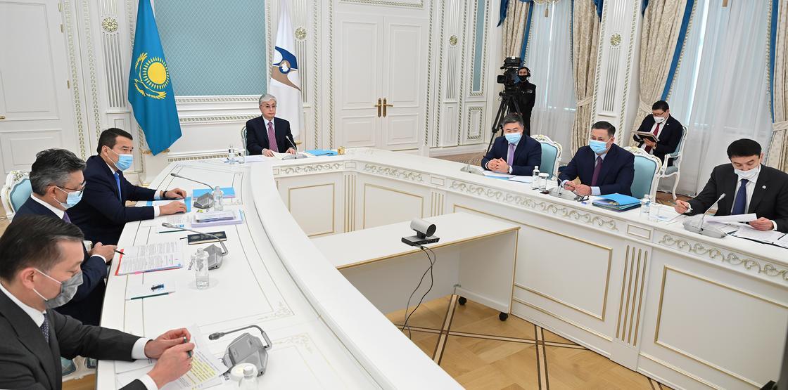 Касым-Жомарт Токаев  принял участие в заседании Высшего Евразийского экономического совета