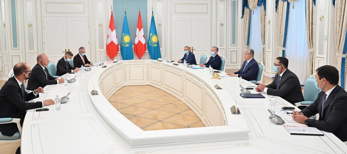Токаев встретился с председателем Национального совета Швейцарии