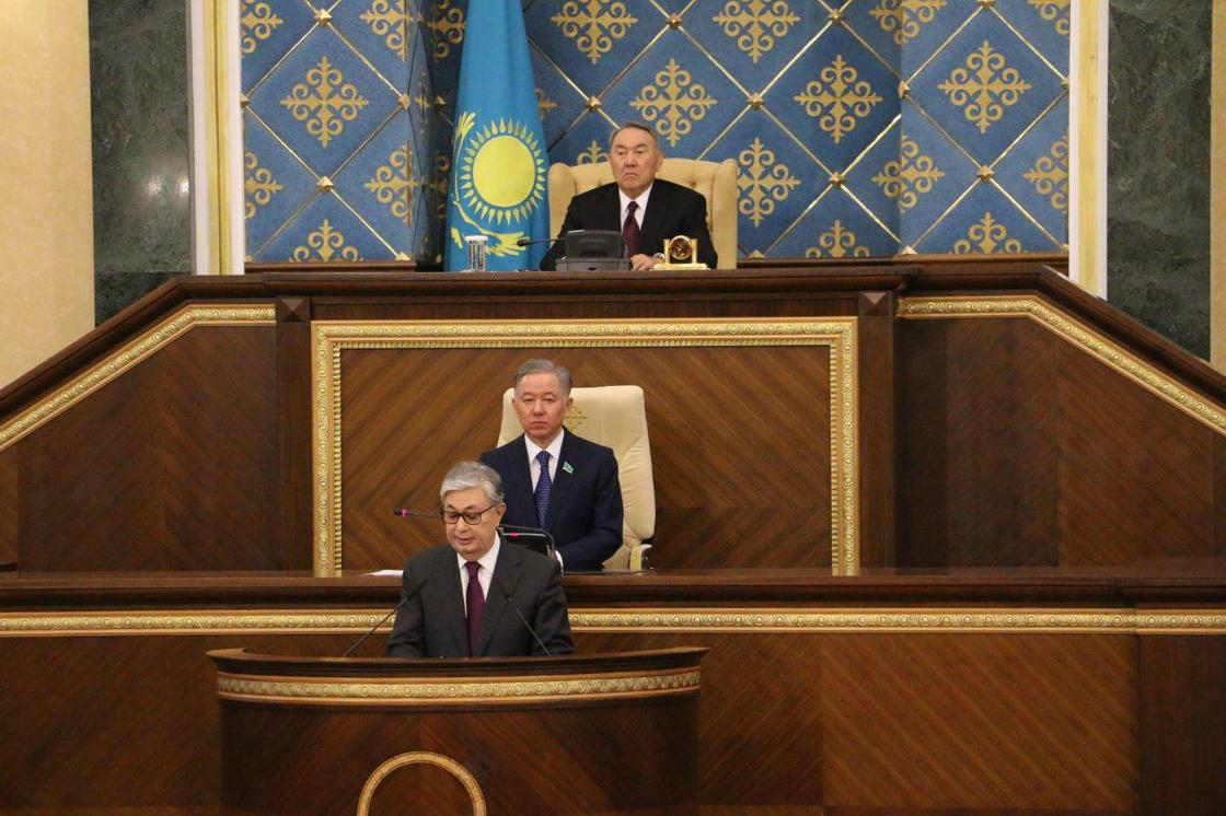 Қасым-Жомарт Тоқаев парламент палаталарының бірлескен отырысында сөз сөйледі