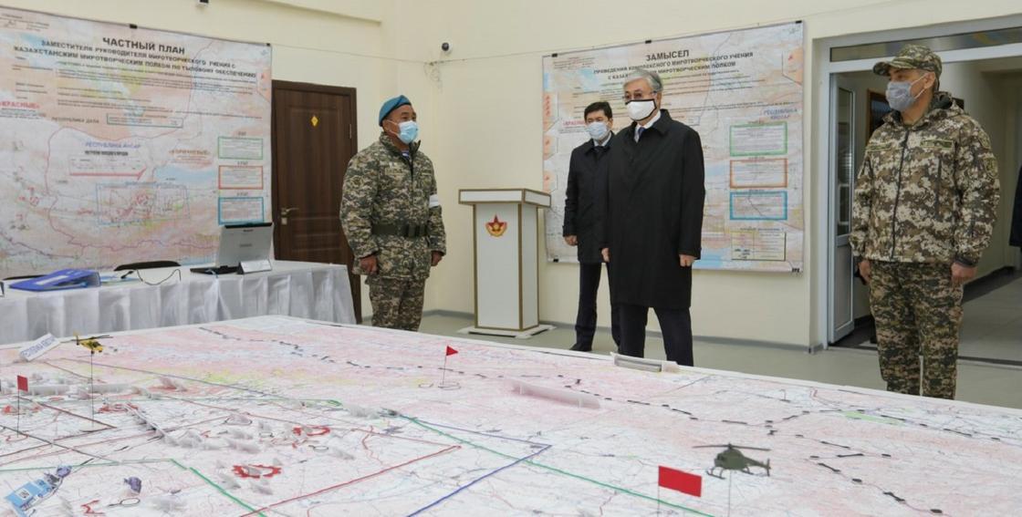 Касым-Жомарт Токаев в Алматинской области