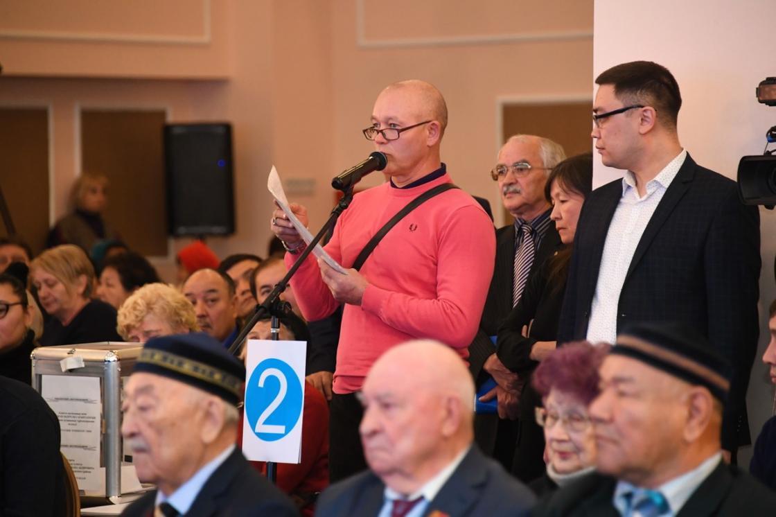 Сагинтаев встретился с жителями Бостандыкского района