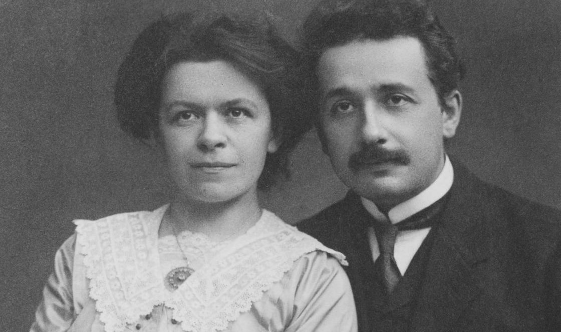 Эйнштейн с женой Милевой