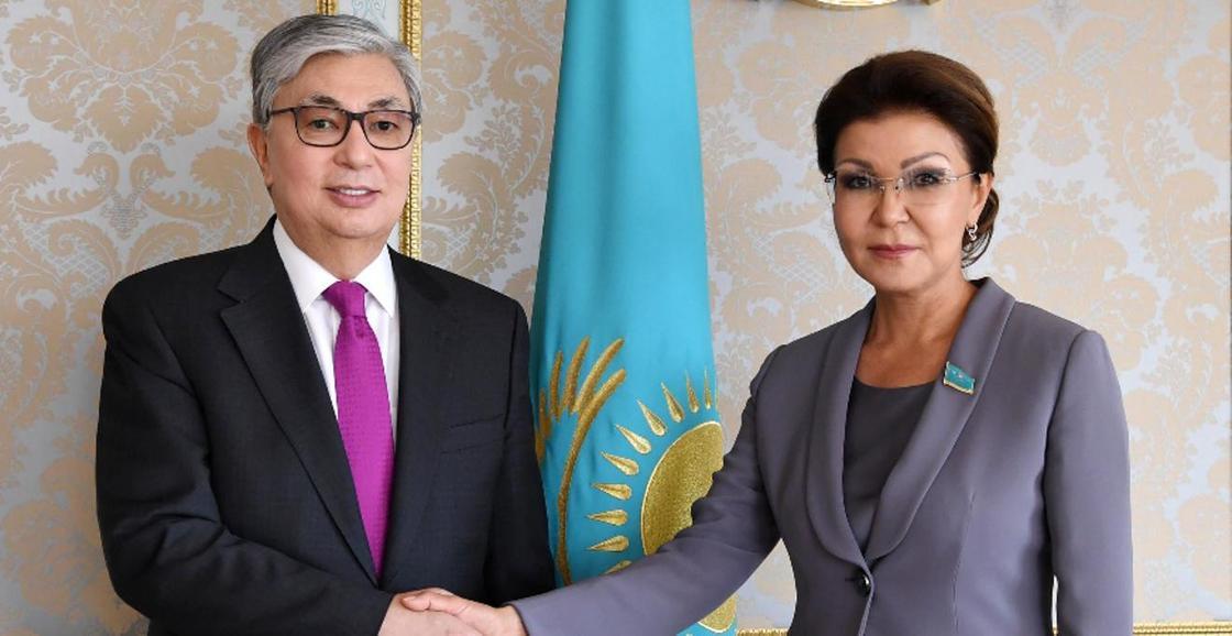Дариға Назарбаева мен Қасым-Жомарт Тоқаев. Фото: Ақорда
