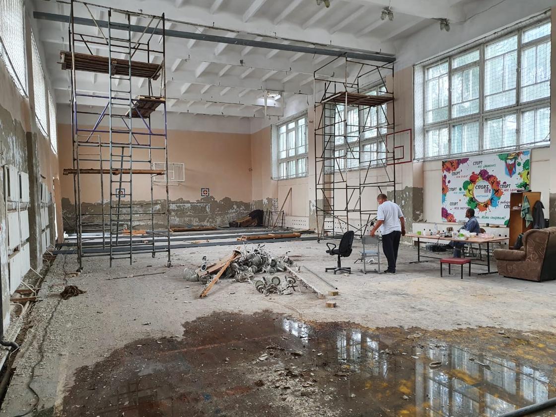 Программа «Дорожная карта занятости». В Костанае капитально ремонтируют несколько школ и ясли-сад