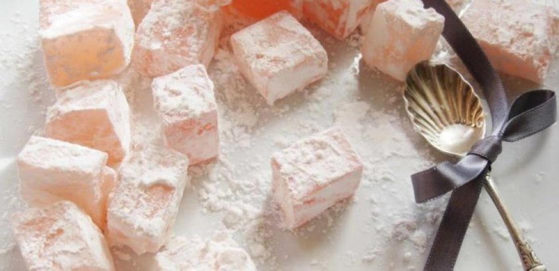 Домашний рахат-лукум в сахарной пудре