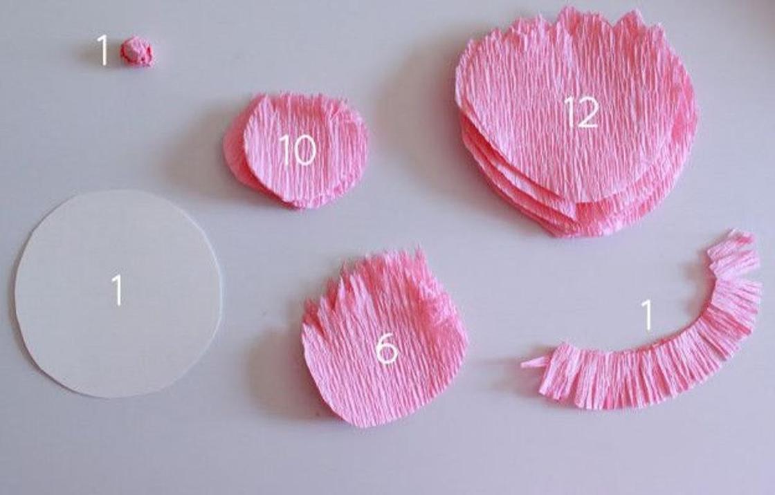 Цветы из бумаги выкройки