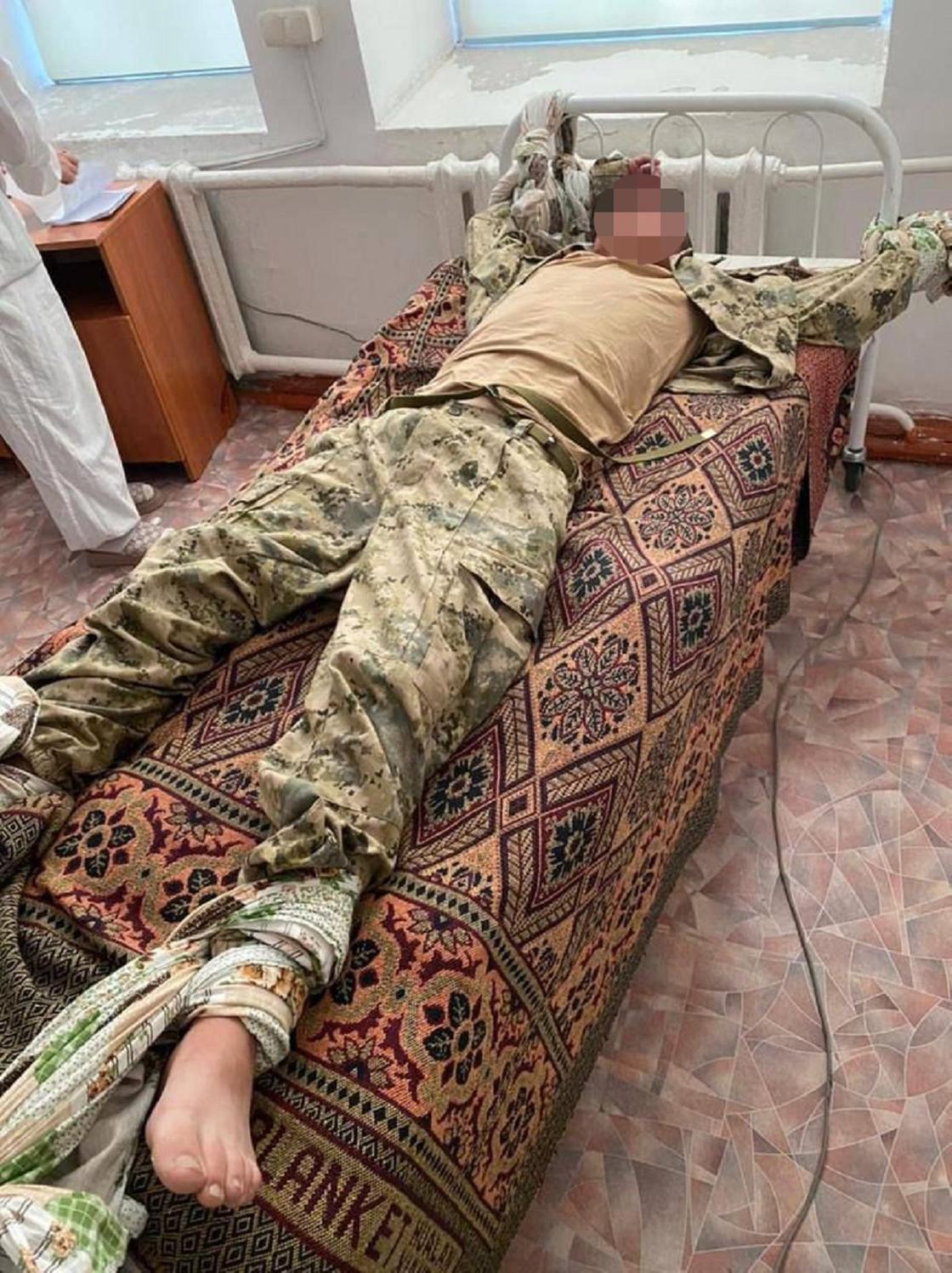 Солдат в Алматинской области