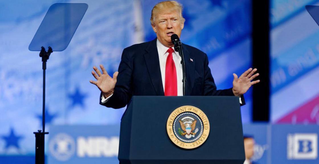 Трамп списал оранжевый цвет своего лица на энергосберегающие лампы