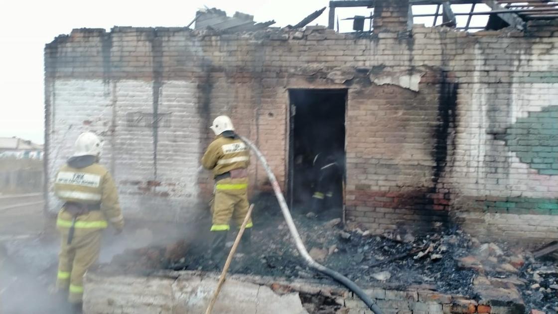 Пожар в Акмолинской области
