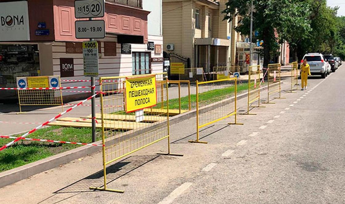 Достык и Жибек жолы в Алматы закороют для пешеходов и автомобилистов