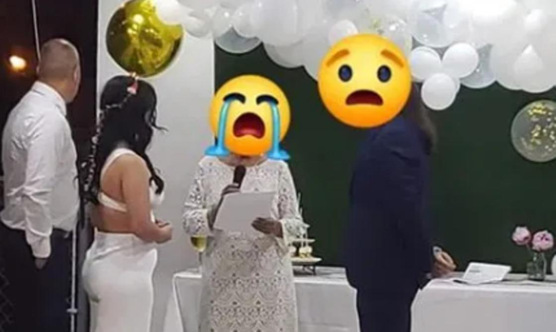 Свадебный наряд невесты раскритиковали в Сети за чересчур глубокое декольте (фото)