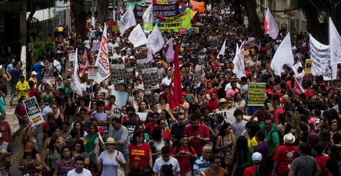 Около 45 миллионов человек протестуют против пенсионной реформы в Бразилии