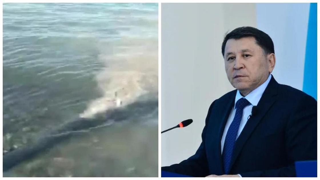«Критической ситуации там нет» - Бекшин о сливе мутной жидкости в озеро Алаколь
