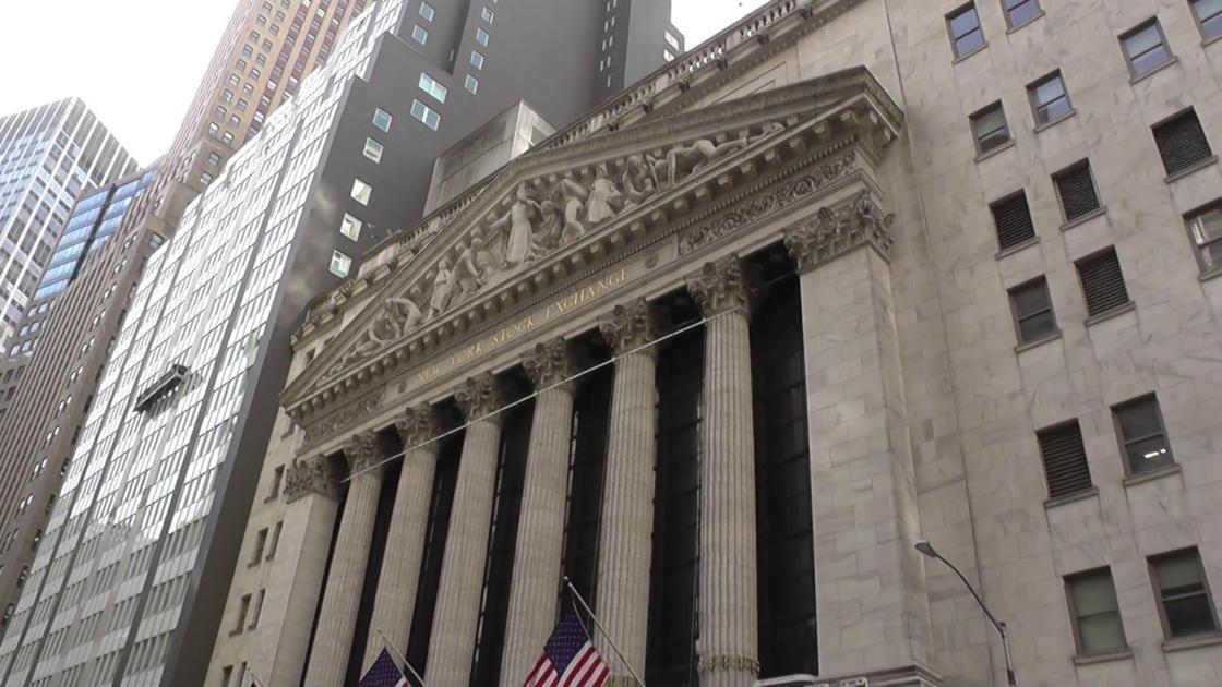 Здание фондовой биржи в Нью-Йорке