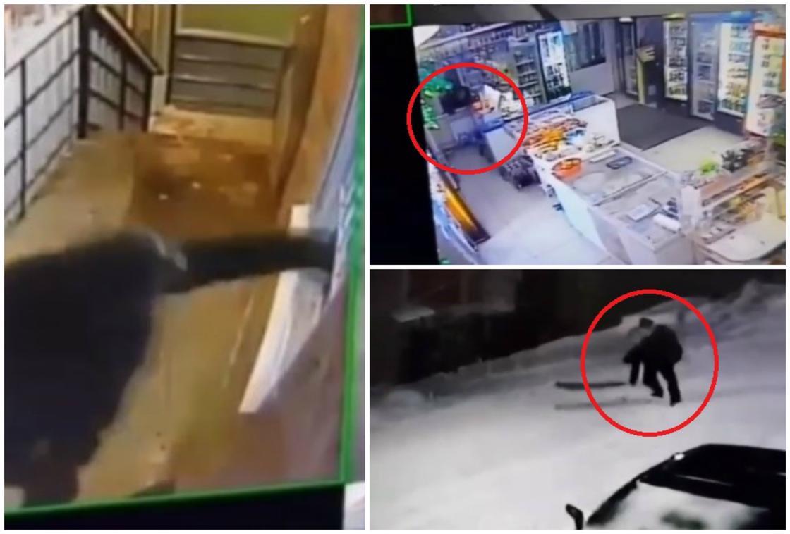 Зверское избиение продавца магазина в Усть-Каменогорске попало на видео