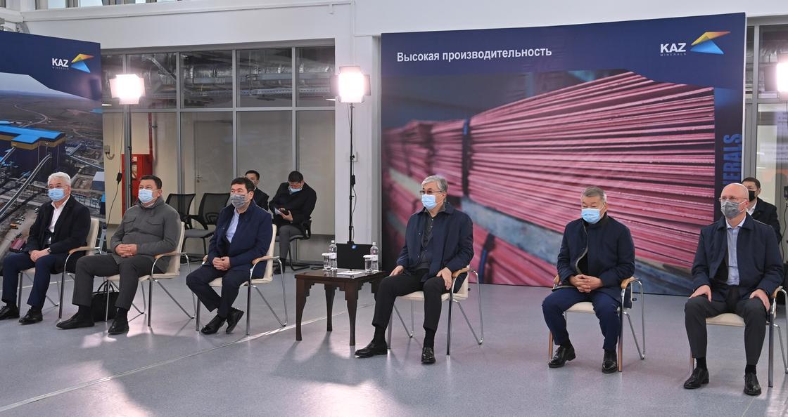 Касым-Жомарт Токаев на Актогайском горно-обогатительном комплексе
