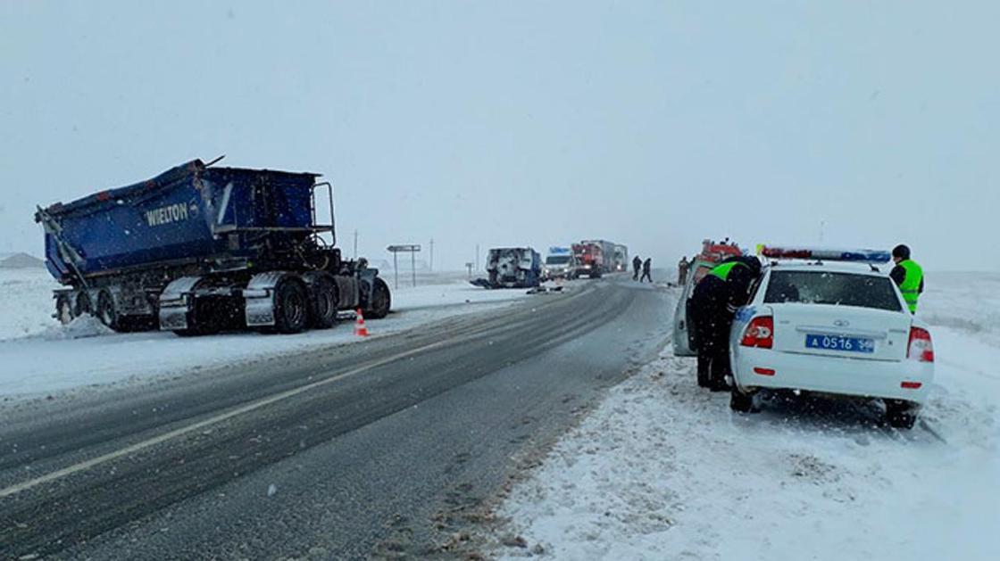 Пятеро казахстанцев погибли в страшной аварии на трассе в России (фото, видео)