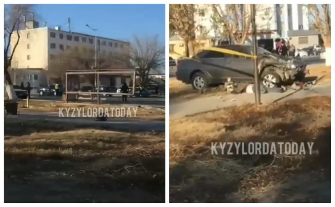 Қызылордада көлік аяламада тұрған адарды қағып кетті (видео)