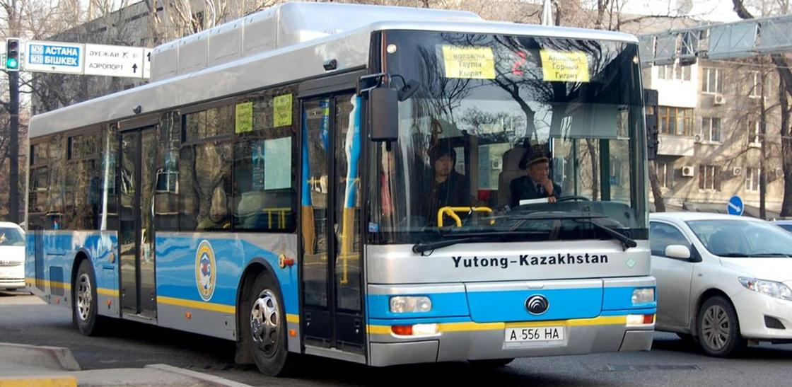 Алматинцев начнут штрафовать с помощью автобусов в 2019 году