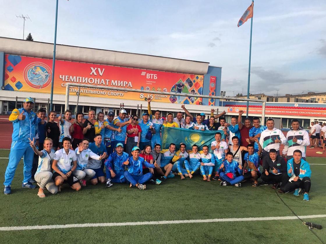 Сборная Казахстана по пожарно-спасательному спорту успешно выступила на ЧМ в Саратове