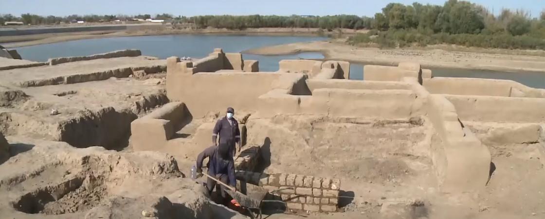 Раскопки в предполагаемом месте захоронения Касым хана