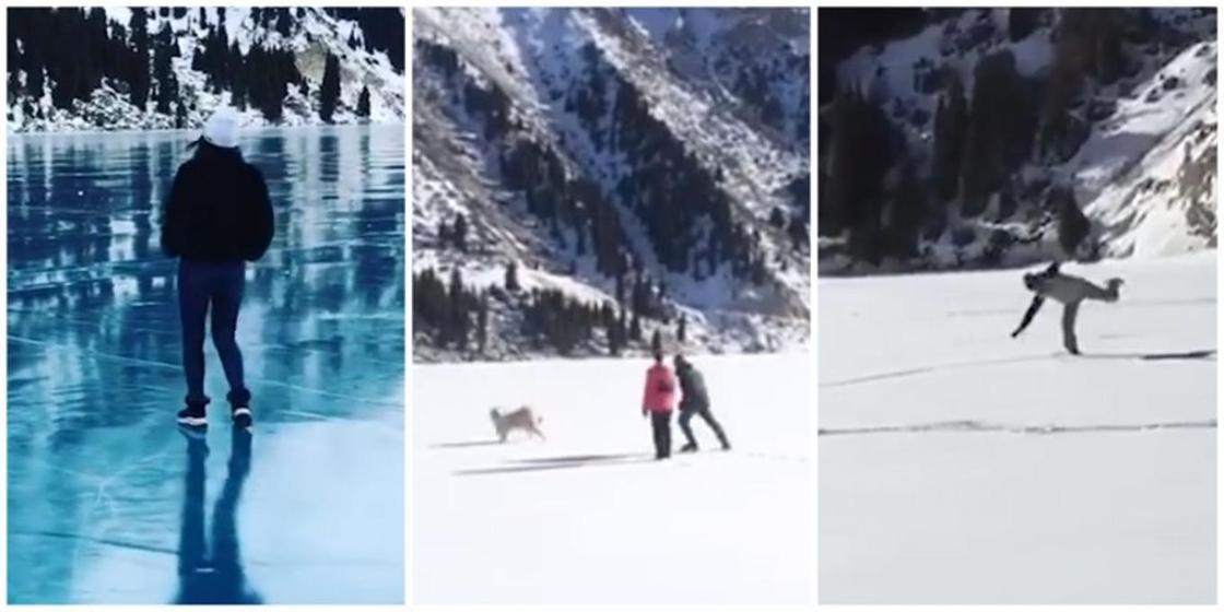 «Безобразный туризм»: алматинцы выгуливают собак и катаются на коньках на БАО