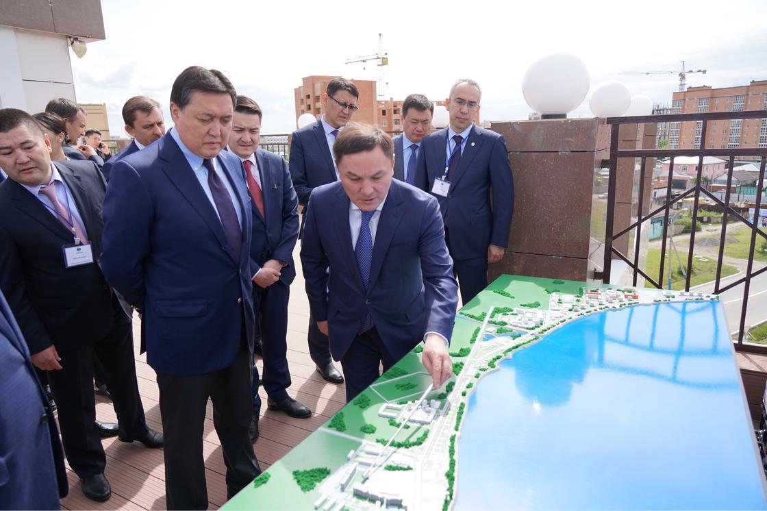 Премьер-Министр РК Аскар Мамин с рабочей поездкой посетил Акмолинскую область