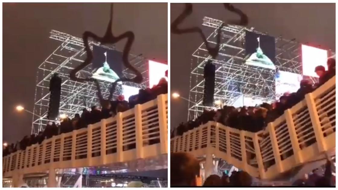 Мост с людьми обрушился в Парке Горького (видео)