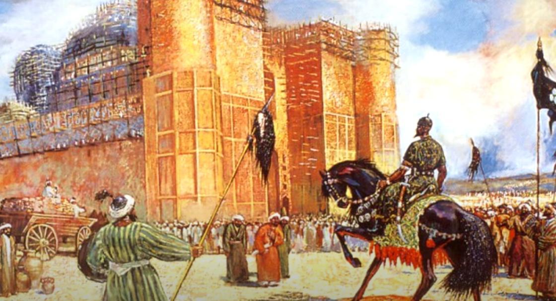 Люди кланяются хану Касыму
