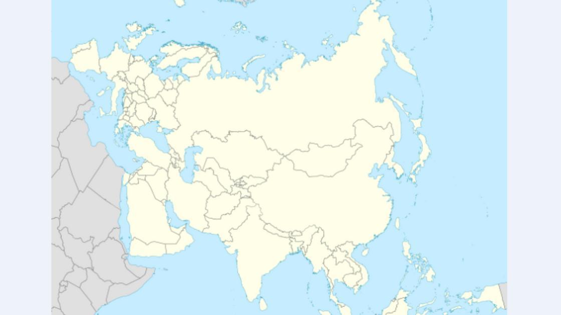 карта Европы и Азии