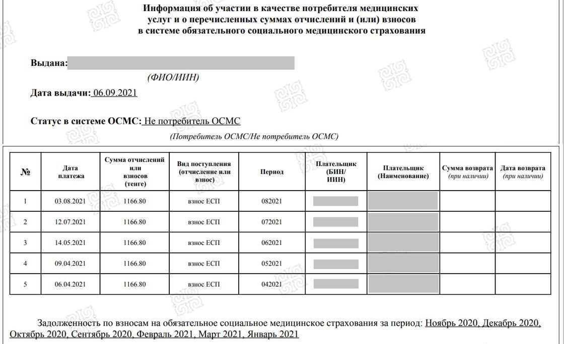 Выписка с портала Электронного правительства