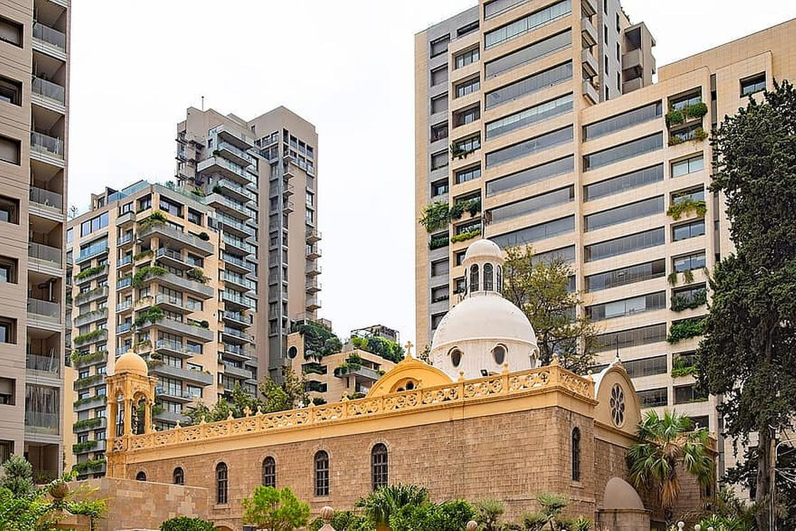 Многоэтажные дома Бейрута