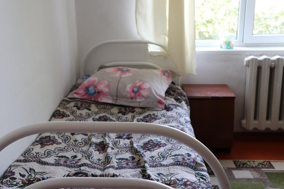 кровать в пункте эвакуации