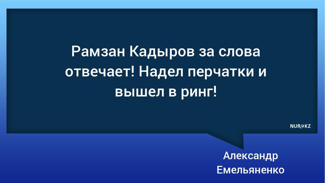 """""""За слова отвечает"""": Емельяненко и Кадыров встретились в октагоне"""