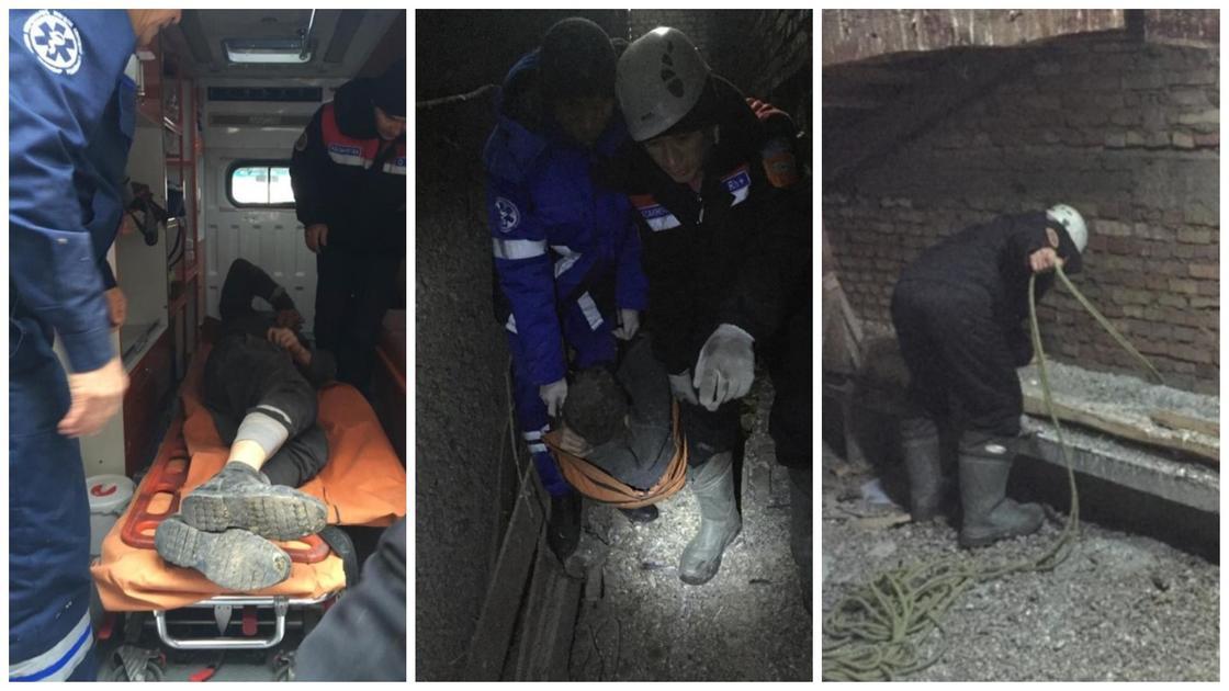 Житель Шымкента застрял между домами