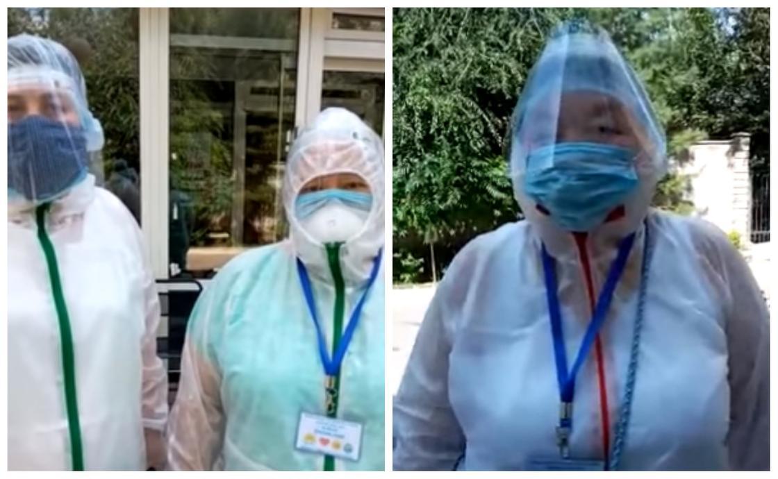 Аида Букаева и ее коллеги-волонтеры
