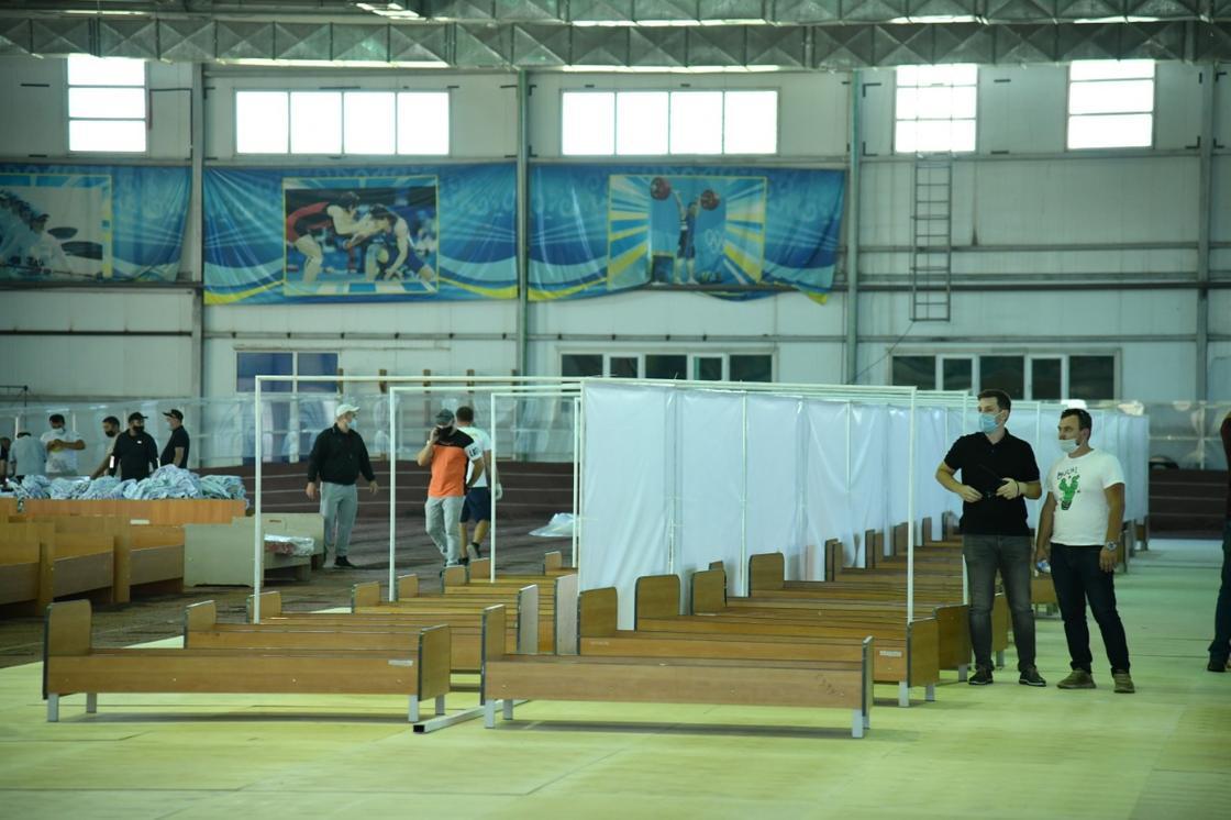 Шымкентте спорт кешенінде 450 орындық стационар дайындалуда