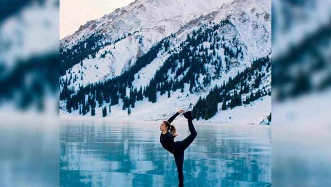 Видео с алматинкой, катающейся на коньках на БАО, вызвало споры в Сети