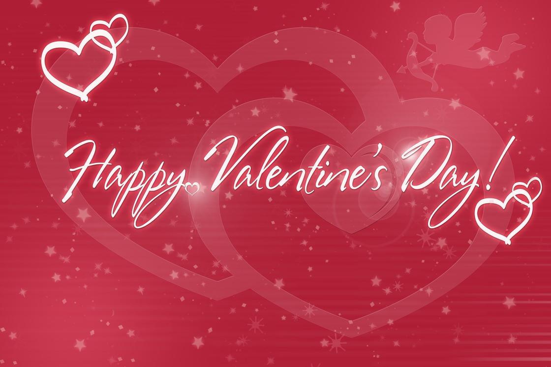 Открытка Happy Valentine's Day
