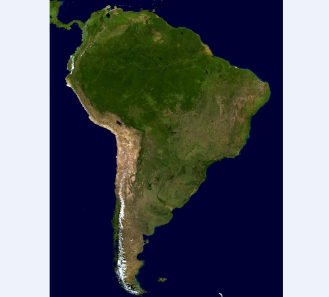 карта Южная Америка