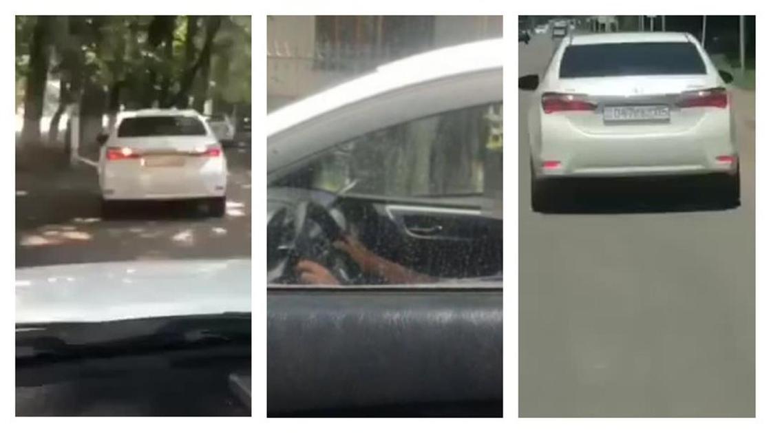 Подростка за рулем автомобиля сняли на видео в Алматинской области