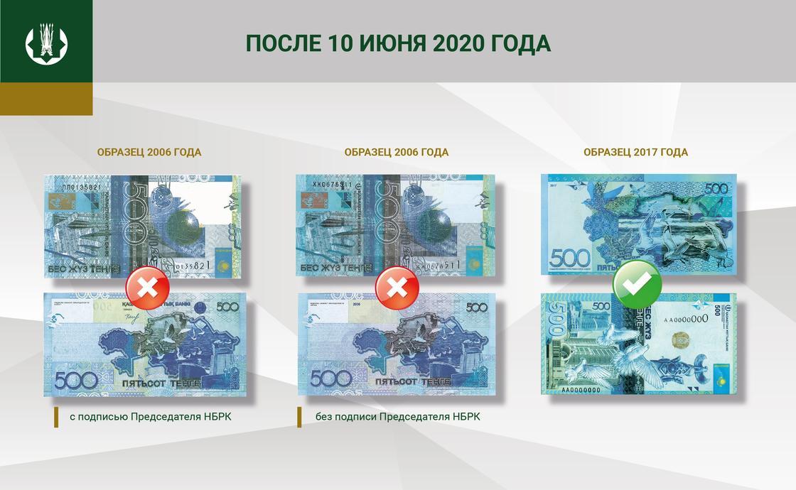 Банкнота в 500 тенге образца 2006 года выходит из обращения