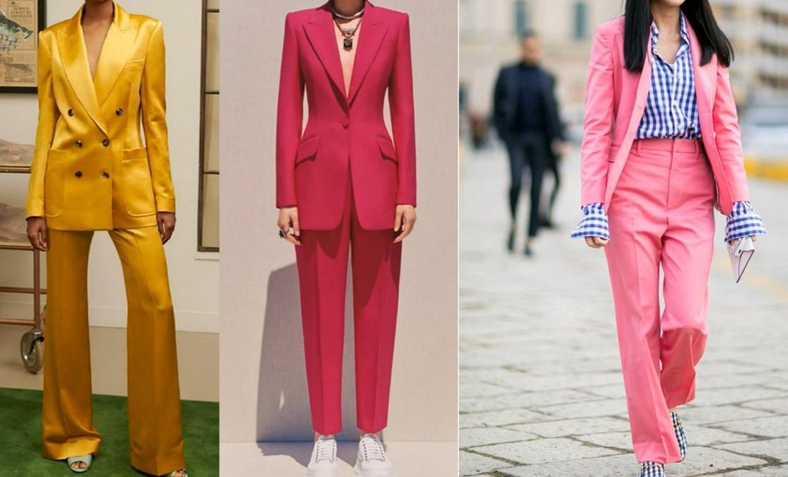 Брючные модные костюмы 2021 года