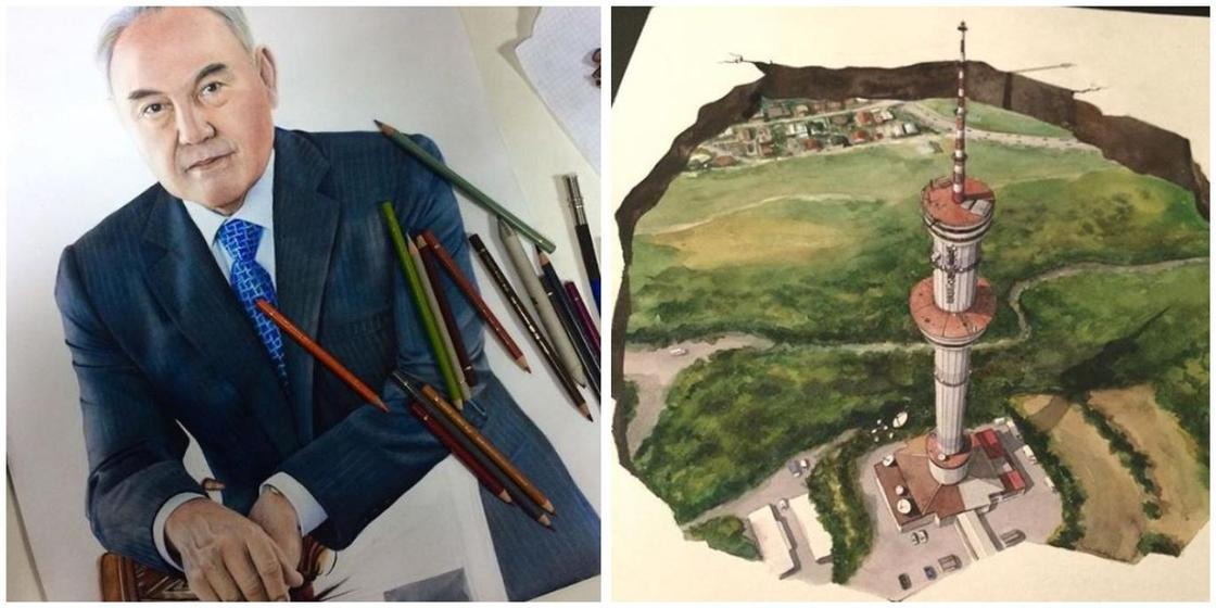 20.12 Алматинец нарисовал портрет Димаша Кудайбергена на пыльном зеркале (видео)