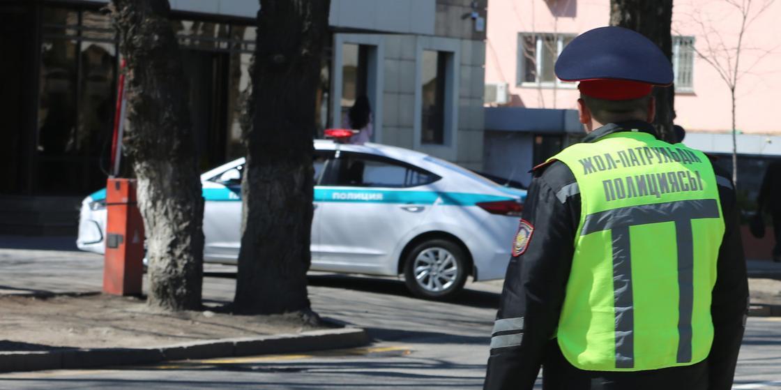 Полицейские замерили превышение скорости на «глаз» в Карагандинской области